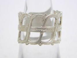 VTG Silver Tone Openwork Filigree Ring Size 6.25 - $19.80
