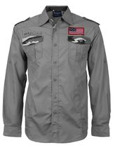 Men's US Military American Long Sleeve Button Up Camo Casual Dress Shirt image 12