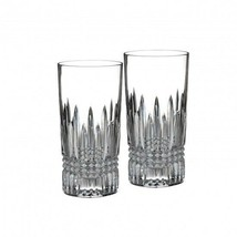 Waterford Crystal Lismore Diamond HiBall Bar Glass Set of Two Pair (2) New - $126.23