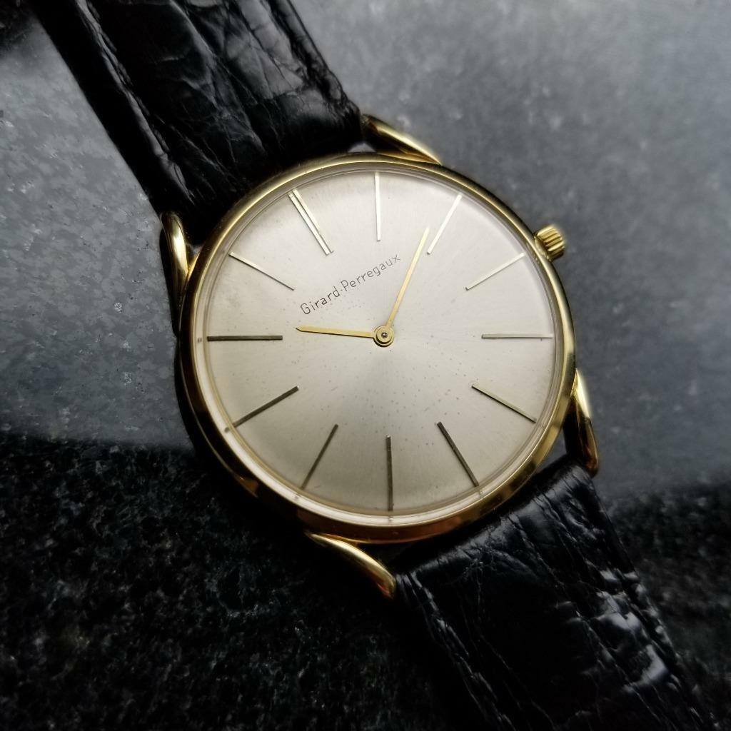 Primary image for Girard-Perregaux Mens 32mm Solid 18k Gold Vintage 1970s Swiss Watch LV412