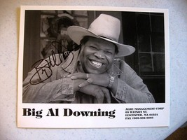 ROCKABILLY- Big Al Downing Black & White Photograph AUTOGRAPHED - $29.69