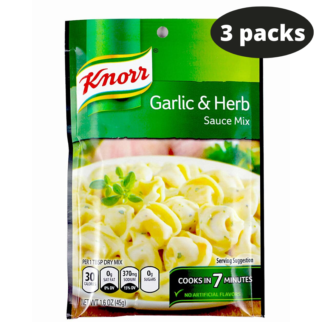 Primary image for Knorr Garlic & Herb Sauce Mix 3 Packs Always Fresh