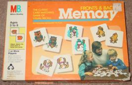 Memory Game Fronts & Backs 1986 Milton Bradley #4014 Ravensburger Complete - $15.00