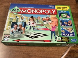 MY Monopoly Family Game Personalize Version Hasbro - $7.99