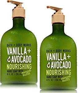 2 Bath & Body Works Vanilla & Avocado Nourishing Hand Soap w Avocado Butter