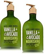 2 Bath & Body Works Vanilla & Avocado Nourishing Hand Soap w Avocado Butter - $14.75