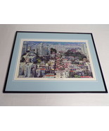 VINTAGE 1970s Lombard Street San Francisco Framed 16x20 Poster Display - $79.19