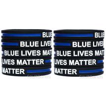 10 CHILD Size Blue Lives Matter Bands Thin Blue Line Law Enforcement Wristbands - $10.77