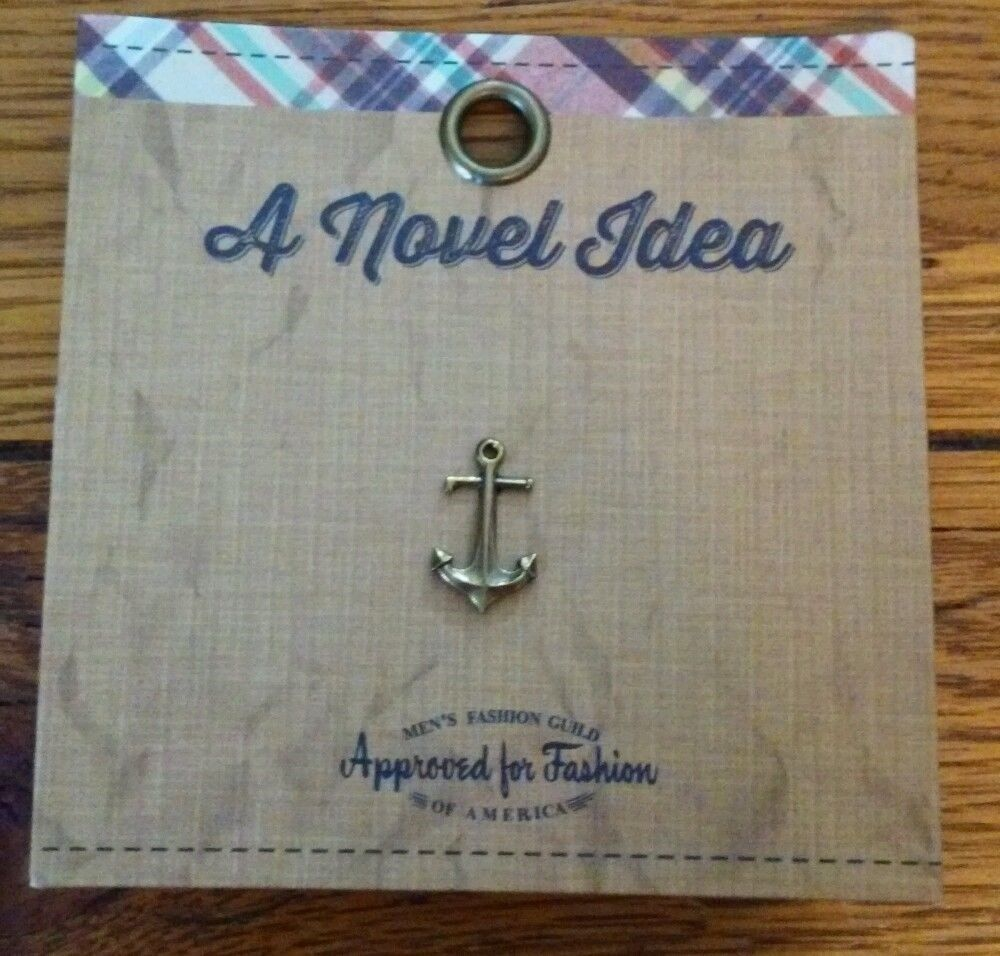 Antiqued Brass Tone Anchor Tie Pin/Tack by A Novel Idea