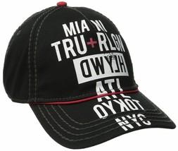 True Religion Men's World Tour Cities Print Baseball Trucker Hat Cap TR1952 image 2