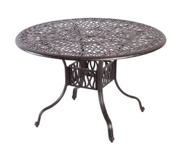 5 piece outdoor dining set cast aluminum outdoor furniture round table 4 chairs. image 2