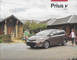 2015 Toyota PRIUS V HYBRID sales brochure catalog 15 US Two Three Four Five - $8.00
