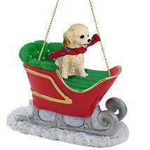 Conversation Concepts Cockapoo Sleigh Ride Christmas Ornament Blonde - $17.99