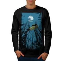 Car Dreams Tee Mystic Night Men Long Sleeve T-shirt - $14.99