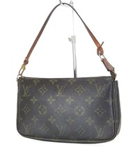 Authentic LOUIS VUITTON Accessory Pochette Monogram Hand Bag #35263 - $239.00