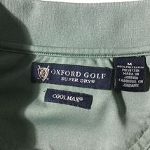 Oxford Golf Mens Shirt Cool Max Polo Style Short Sleeve Super Dry Size M  image 4