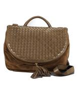 Vintage Bottega Veneta fisherman style khaki brown intrecciato large sho... - $582.00