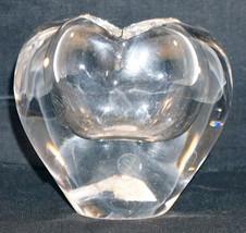 Heart Shaped Glass Vase Danish Design Handcrafted in Brazil - $25.99