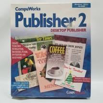 CompuWorks Publisher 2 Desktop Publisher Windows 95/3.1 CD-ROM New Seale... - $24.99