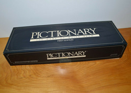 VINTAGE PICTIONARY BOARD GAME COMPLETE 1985 GAME OF QUICK DRAW FIRST EDI... - $10.69