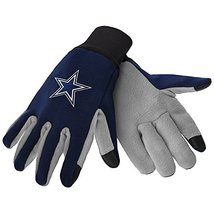 NFL Sport Utility Work Gloves with Grippy Rubber Palm (Dallas Cowboys Navy) - $9.95