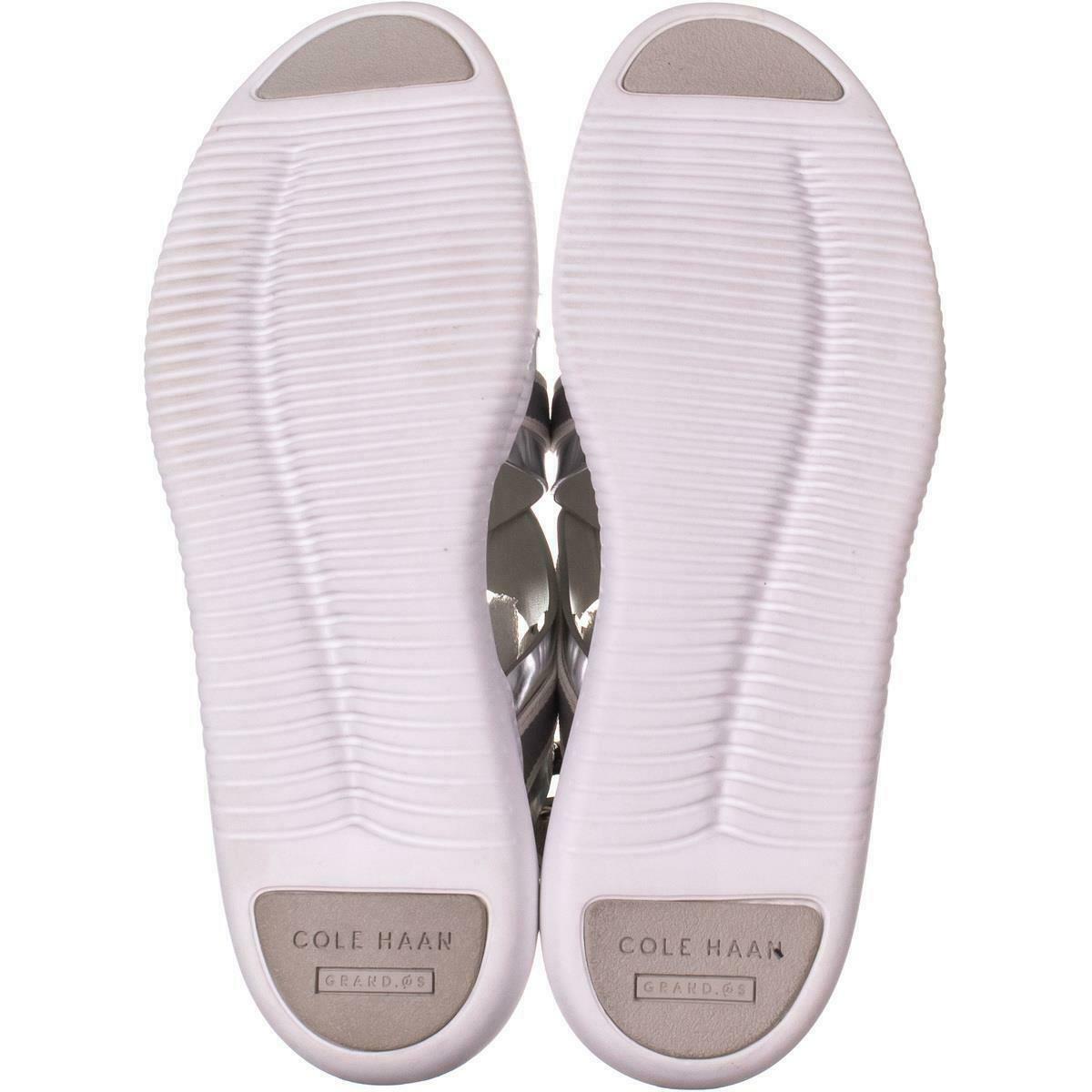 Cole Haan 2 Zerogrand Criss Cross Sandals 703, Argento, 10.5 US image 6