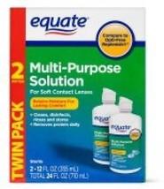 Contact Solution Equate Sterile Multi-Purpose , 12 Oz, 2 Pk - $18.69