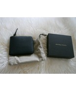 NIB 100% AUTH Bottega Veneta Black Leather Zip Around Wallet W/Coin Pocket - $265.32