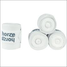 White Horze Nest Elastic Polar Fleece Leg Wrap Bandage Set Of4 Horse U-0-WH - $31.63