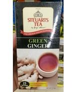 Steuarts Tea Ceylon Green Ginger Flavoured Black Tea Pure Ceylon 25 Tea ... - $6.92