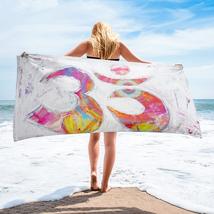 "Beach towel ""aum"" - $65.00"