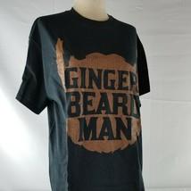 """Ginger Beard Man"" mens black tshirt size medium - $10.99"
