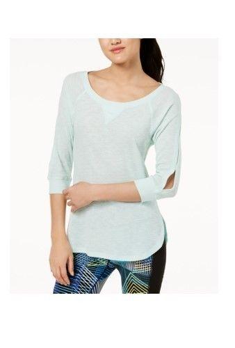 Calvin Klein Womens PerformanceCutout-Sleeve Top Pistachio Size Large $39 - NWT