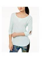 Calvin Klein Womens PerformanceCutout-Sleeve Top Pistachio Size Large $3... - $15.19