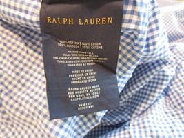Ralph Lauren Full Fitted Blue Gingham Sheet Blue White - $29.99