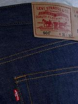 Levi's Men's Shrink To Fit Straight Leg Jeans Button Fly Indigo 501-0000 image 3