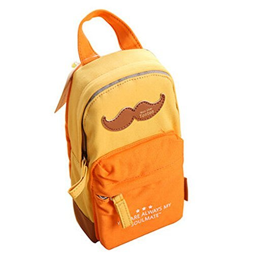 Primary image for Cute Beard Canvas Pen Holders Pen Bag Pencil Case Stationery Pen Boxes,Orange