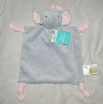 DANDEE DAN DEE PINK GRAY ELEPHANT SECURITY BLANKET LOVEY KNOT RATTLE TOY... - $44.54