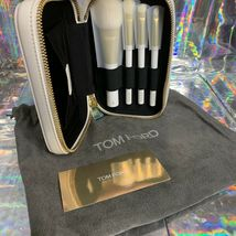 NEW Tom Ford Soleil Natural Hair Brush Set 6,11,12,16 White Case  HOLIDAY GIFT image 8