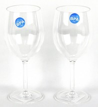 Dinner Party Wine Glassware Acrylic Glass Shatterproof Set of 2 - £12.75 GBP