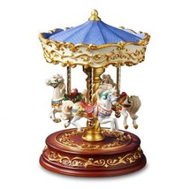 THE SAN FRANCISCO MUSIC BOX COMPANY Heritage 3-Horse Rotating Carousel - $127.44