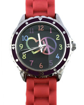 ACCUTIME WATCH CORP Love Peace & Harmony Rainbow Colored Wrist Band 0112 - $10.11
