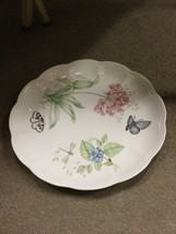 "Lenox Butterfly Meadow Eastern Tail Blue 11"" Plate Flower And Butterfly Design image 2"