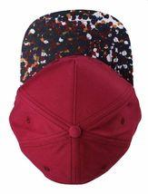 Dope Couture D0915-H206-BUR Seurat hook Loop Strapback Cap Burgundy Speckled Hat image 5