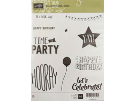 Stampin' Up! Confetti Celebration Rubber Cling Stamp Set #142034 - $15.99
