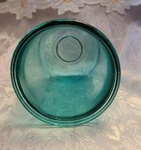 Vintage Unusual Dark Aqual Blue Glass Vase - See Pictures for better Description image 4