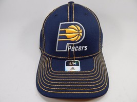 Indiana Pacers Adidas Small/Medium S/M Fitted Official NBA Blue Cap Hat NEW! - $18.61