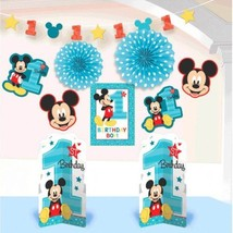 Mickey Mouse Fun to Be One 10 Pc Room Decorating Kit 1st Birthday Party - $15.39