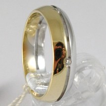 White Gold Ring Yellow 750 18K,Faith Engagement with Diamonds CT image 2