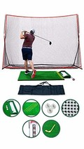 Complete Home Driving Range Golf Net and Mat Combo, 10x7ft Golf Hitting ... - $543.13